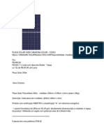 Analista de P&D Com Foco Em Fotovoltaico