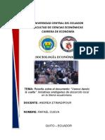 Cueva Rafael E6A Reseña Sociología Económica