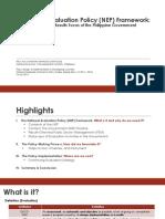 National Evaluation Policy Framework