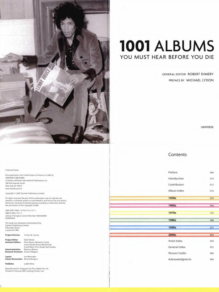 10 Albums, You Must Hear Before You Die   PDF   Lp Record   Albums