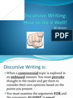 Discursive Writing Guide
