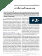 (1 Quantum Computational Supremacy