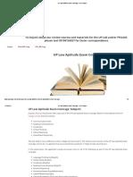 UP Law Aptitude Exam Coverage - LAE Prepper