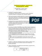 Prova regimental c/ gabarito - Letras português/japonês UNICSUL EAD