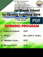 Semestral Break Inset