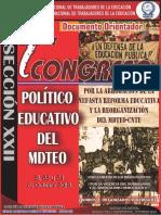 Documento Orientador i Congreso Politico Educativo Mdteo Cnte