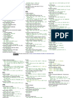 Db2 Cheat Sheet for Development