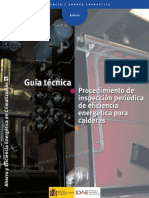 Guía Técnica Procedimiento de inspección periódica de eficiencia energética para calderas.