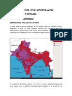 Migraciones de Los Europeos Hacia Africa Asia y Oceania