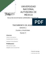 Reporte Alcalinidad y Dureza