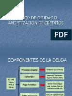 repago de deudas o amortización de creditos