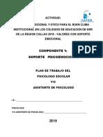 1. Plan de Trabajo 2019 Psicologo (a)