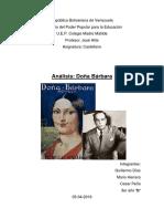 Análisis Doña Bárbara