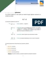 1. Expresiones algebraicas