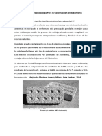 Innovaciones Tecnológicas Para La Construcción en Albañilería