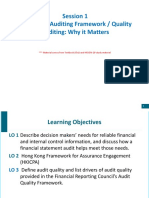 Session 1 Quality Auditing Why It Matters_Fall 2019 w HK Framework_Final