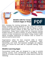 Mobile LMS for Corporate Training