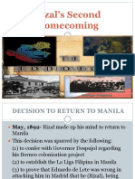 Rizal's Second Homecoming