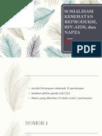Sosialisasi Kesehatan Reproduksi, Hiv-Aids, Dan Napza Sma, Smk, Skb
