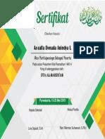 Sertifikat Sanlat Ramadhan 1440 H Editan