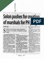 Manila Standard, Nov. 18, 2019, Solon pushes for creation of marshals for PH judges.pdf