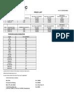 Organic Homes Price List