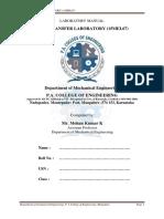 15mel67 - Heat Transfer Laboratory Manual