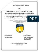 Consumer Perception & Buying Behaviour While Purchasing House