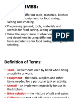 Salting, Curing and Smoking
