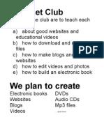 Internet Club Mavericks High School   Organized by TheEbookman