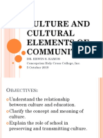 Culture and Cultural Elements of Communities