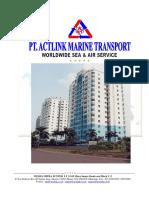 Company Profile PT ACTLink Marine Transport