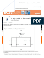 A Brief Guide to the Use of Parallel Conductors
