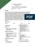 Informe de Laboratorio 10 Factores Que Influyen en La Actividad Enzimática