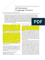 Conceptions of Literature in University Language Courses