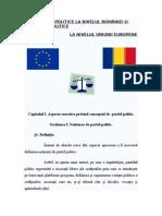 Referat-partide Politice Romania vs. Partide Politice u.e.+ Partea a Doua