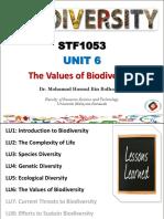 The Values of Biodiversity