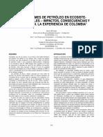 Los Derrames de Petroleo en Ecosiste- Mas Tropicales - Impactos, Consecuencias