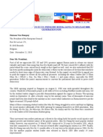 AN APPEAL LETTER TO EU TO PRESSURE BURMA JANTA TO RELEASE888