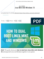 Dual Boot Linux Mint and Windows