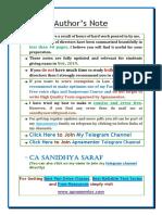 Directors Summary (Sanidhya Saraf)