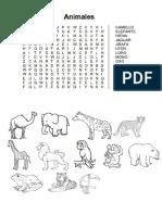 Sopa de Letras Animales