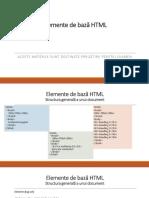 Elemente de Bază HTML