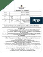 Plano Ensino DIR 5732 - Processo Do Trabalho 2019-2