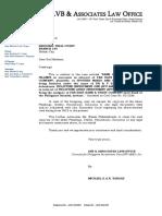 Request Letter DR & P Sales