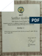 Sertifikat Akreditasi Prodi Manajemen UPI YPTK PADANG