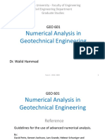 Numerical Analysis in Geotechnical Engineering 1
