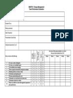 Team Performance Evaluation Form