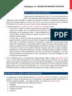Fiche Méthodologique 2 - Rédiger Un Rapport Dactivité Déc 2012