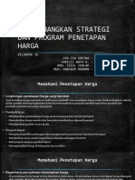 Mengembangkan Strategi Dan Program Penetapan Harga